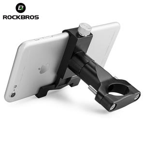 ROCKBORS Bike Phone Holder Aluminum Alloy Shockproof Bicycle Phone Stand GPS Support Motorcycle Bicycle Handlebar Mount Holder