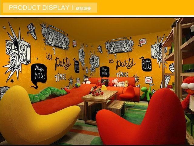 Online Shop ShineHome Large Custom Wahable Wallpaper Rock N Roll
