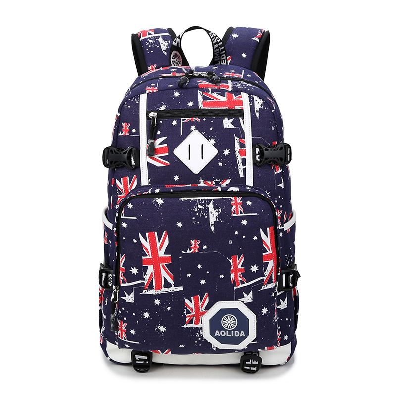 Image 3 - 2018 Men's Backpack Female Camo School Bags For Boy Girl Teenagers High School Middle back pack Large mochila feminina AXB21-in Backpacks from Luggage & Bags