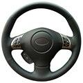 Black Artificial Leather Car Steering Wheel Cover for Subaru Forester 2008-2012 Impreza 2008-2011 Legacy 2008-2010 Exiga 2