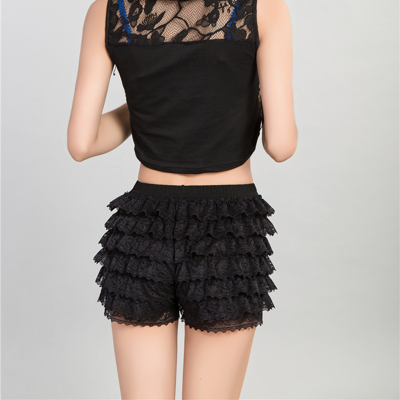 New arrival Safety Short Pants Sexy breathable warmth  women lace leggin shorts ladies short Safety pants black safety