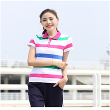 Ruoru M- 6XL Large Size Cotton Striped Casual Short Sleeve Polo Shirt