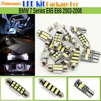 Buildreamen2 Car 2835 Canbus LED Lamp LED Kit Package White Interior Map Dome Trunk Light For BMW 7 Series E65 E66 2003 2008