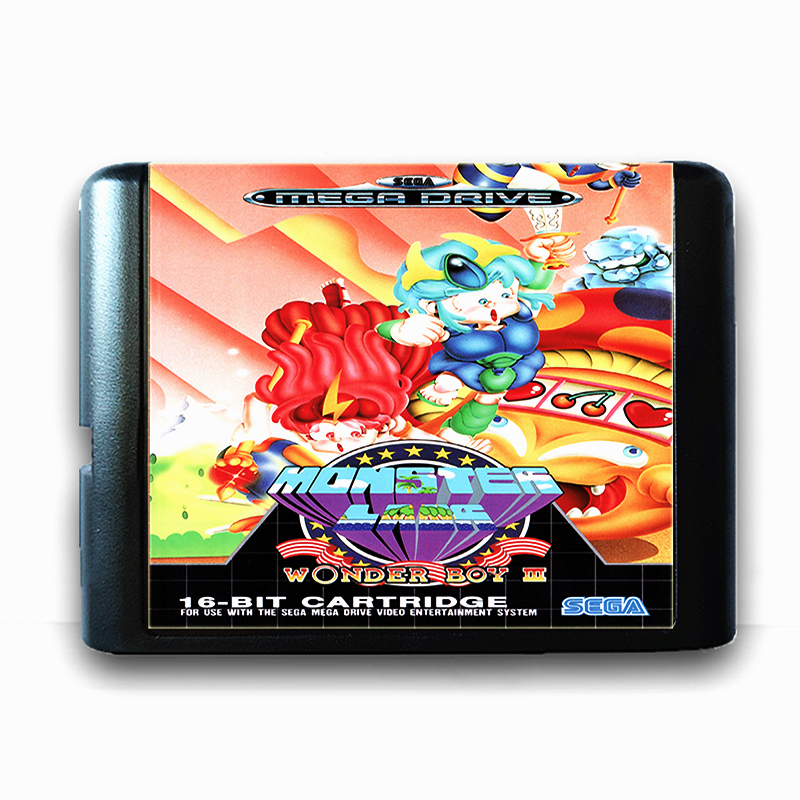 Wonder Boy III 16 bit Sega MD Game Card for Mega Drive for Genesis