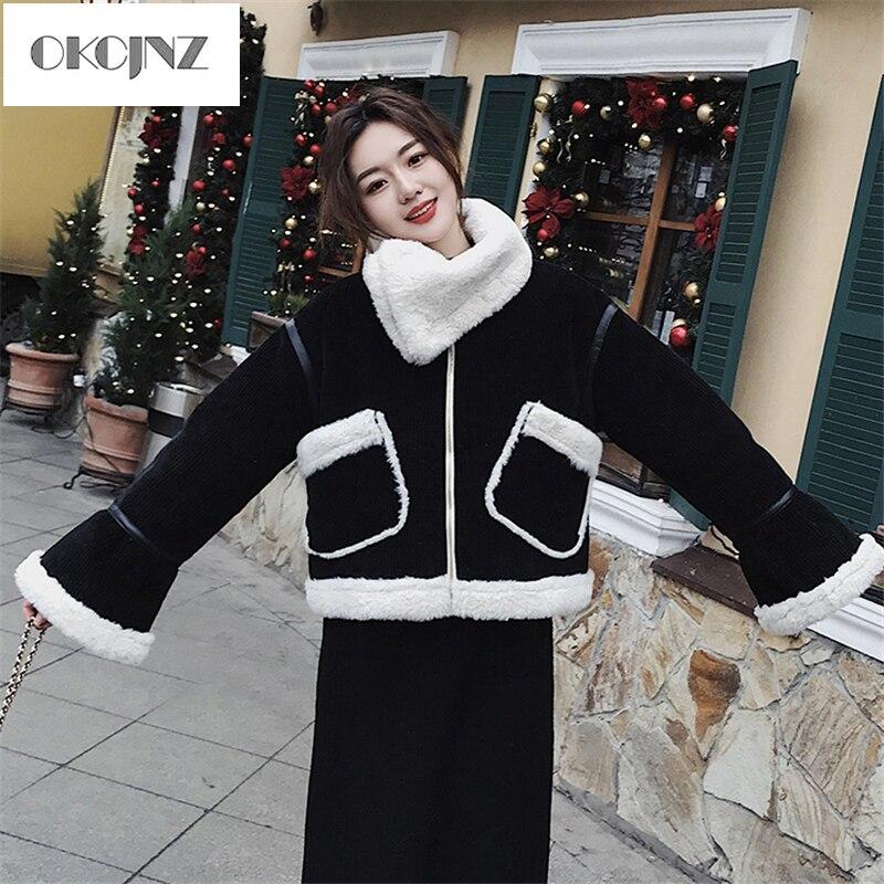 Nouvelle Black Courte Coton Plus Le Veste Mode Femelle Hiver Manteau Velours Casual D'agneau 2018 Fourrure Yy249 Femmes Rembourré De d840wnx7U