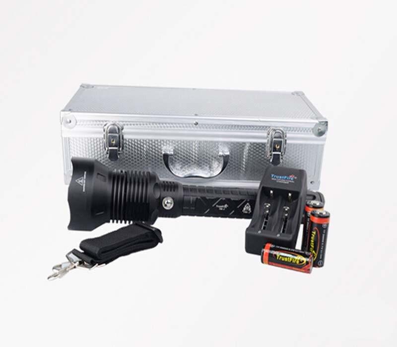все цены на TrustFire T90-2 Luminus SST-90 2500lm 5-Mode LED Flashlight+3x26650 Li-ion Battery+1xCharger+1x Aluminum Box онлайн