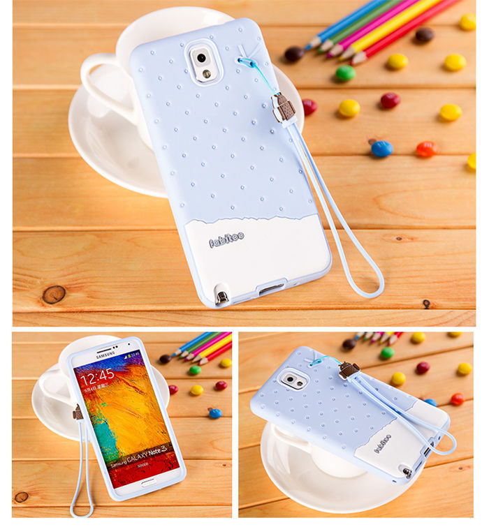 the latest 649d8 20ec1 US $7.09 |3D Cartoon Lady Cute Ice Cream Case For Samsung Galaxy Note 3 III  N9000 Soft Silicone TPU Cover Skin Girls Sweet Phone Cases on ...