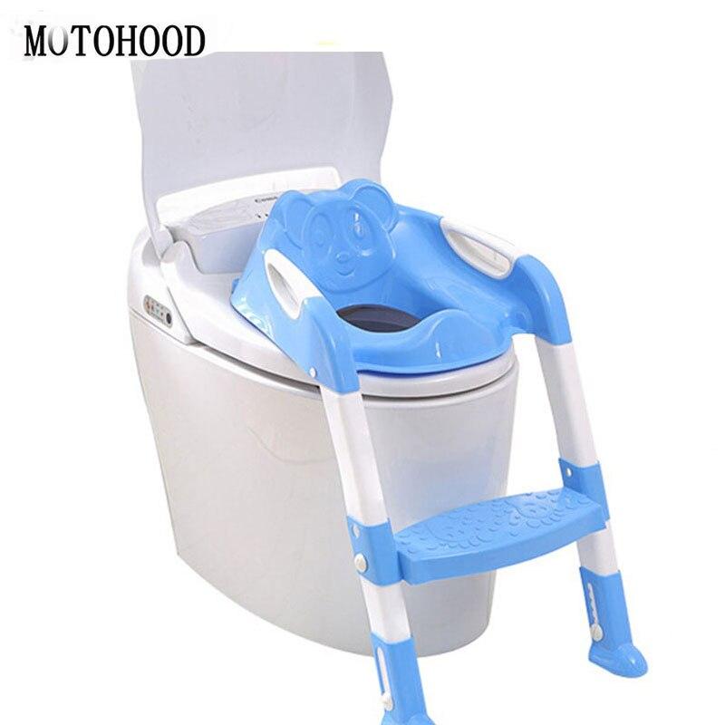 Baby Potty Seat Ladder High Quality Chair Folding Toilet Kid Urinals Boy Kawaii Panda Orinal Trainers