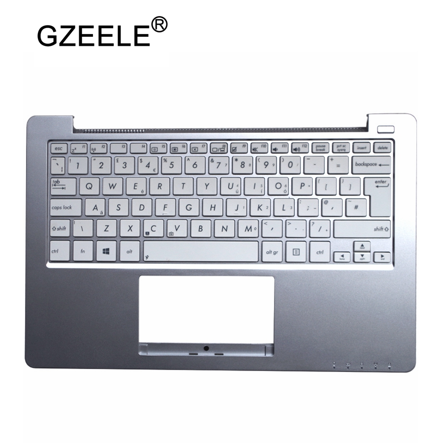 GZEELE New For ASUS X201 X202 X201E X202E With Replace UK Keyboard Laptop Layout Topcase Housing Palmrest Keyboard Bezel Upper