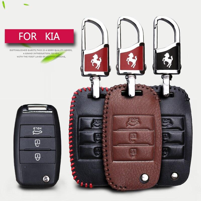 Autoschlüssel Intelligente Fall-abdeckung Für Kia Rio K2 3 4 Ceed Optima Sorento Sportage 3 Cerato K3 Seele 2017 Echtem Leder Schlüsselanhänger Shell