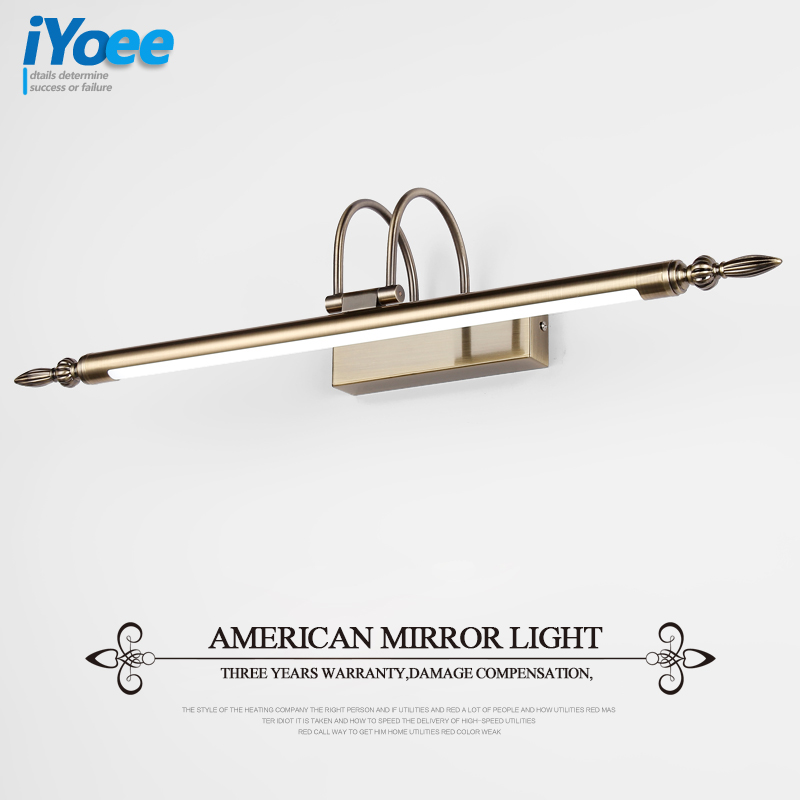 Modern 56cm Bathroom Mirror Lamp Waterproof Retro Bronze Cabinet Vanity Mirror Lights Led Wall Light Lamp Free Shipping mirror light led waterproof antimist bathroom mirror glass wall lamp nordic brief modern mirror cabinet lamp led lighting