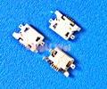 100 unids/lote... micro USB 5pin 1,28mm sin boca plana lateral sin conector hembra rizador para teléfono móvil Mini USB Jack nuevo