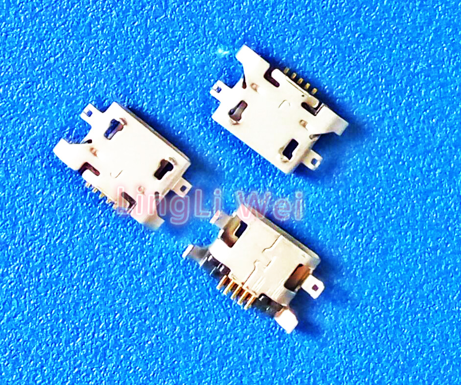 100pcs/Lot,Micro USB 5pin 1.28mm no side Flat mouth without curling side Female Connector For Mobile Phone Mini USB Jack NEW 10pcs lot micro usb connector jack