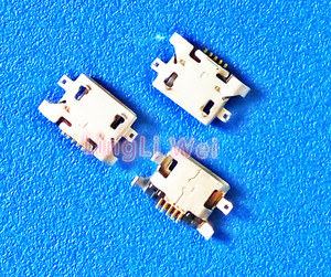 100pcs/Lot,Micro USB 5pin 1.28mm no side Flat mouth without curling side Female Connector For Mobile Phone Mini USB Jack NEW