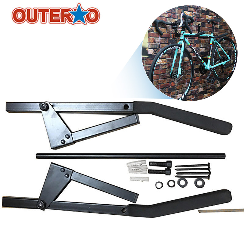 Outerdo New Arrival Foldable Bicycle Wall Mount Bike Storage Rack Holder Cycling Storage Hanger Stand Bike Holder Accessory outerdo 100