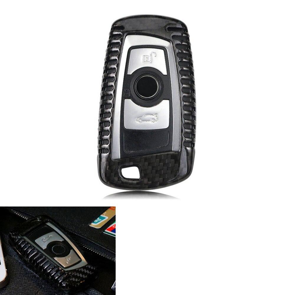 BBQ @ FUKA etui clés à distance en Fiber de carbone coque de peau porte-clés de voiture pour BMW 1 3 5 7 série X3 X5 accessoires Auto