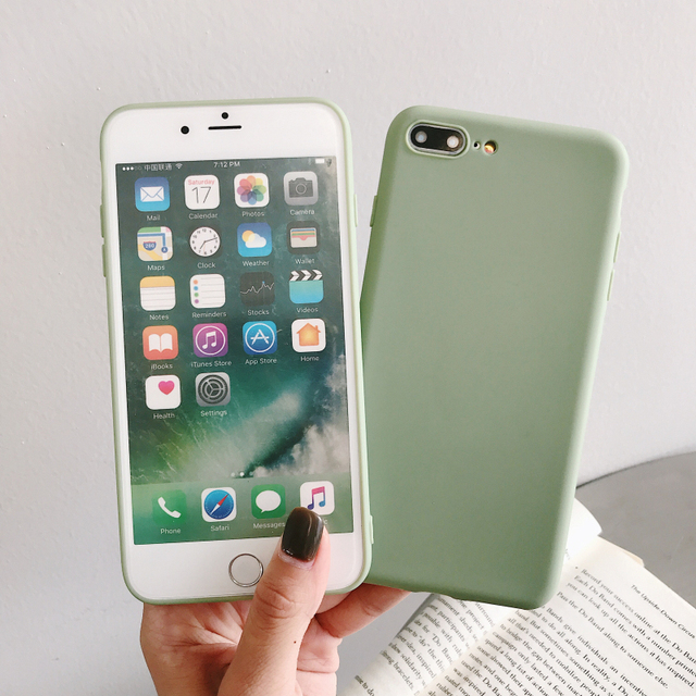 Simple Solid Color Soft Phone Case