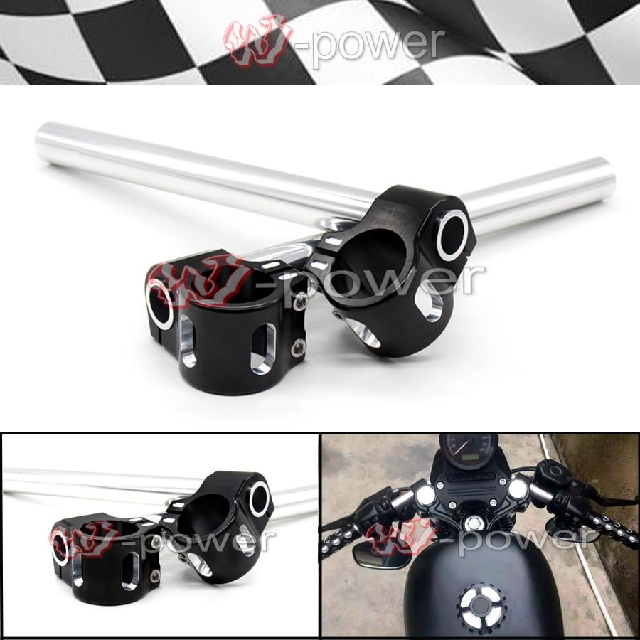 For Harley Sportster XL 883 1200 48 Dyna FXD FXDX FXDL Motorcycle CNC Billet Aluminum 39mm Fork Tubes Clip-On Handlebars 1 Bars meziere wp101b sbc billet elec w p