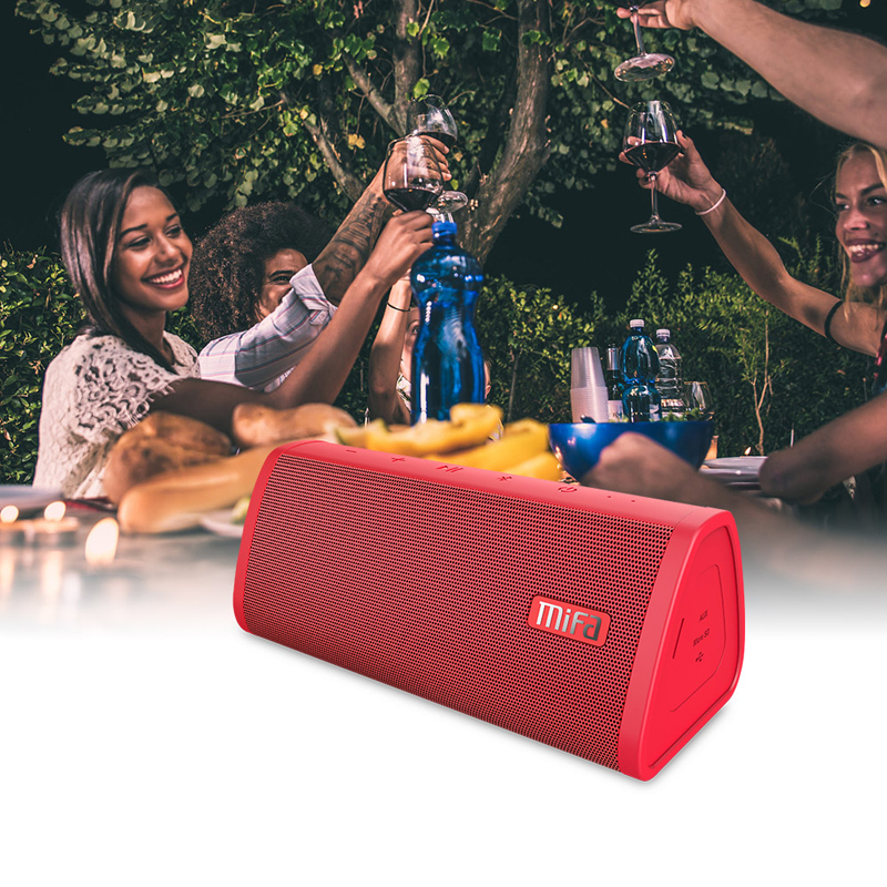 Red Portable Water Resistant Bluetooth speaker