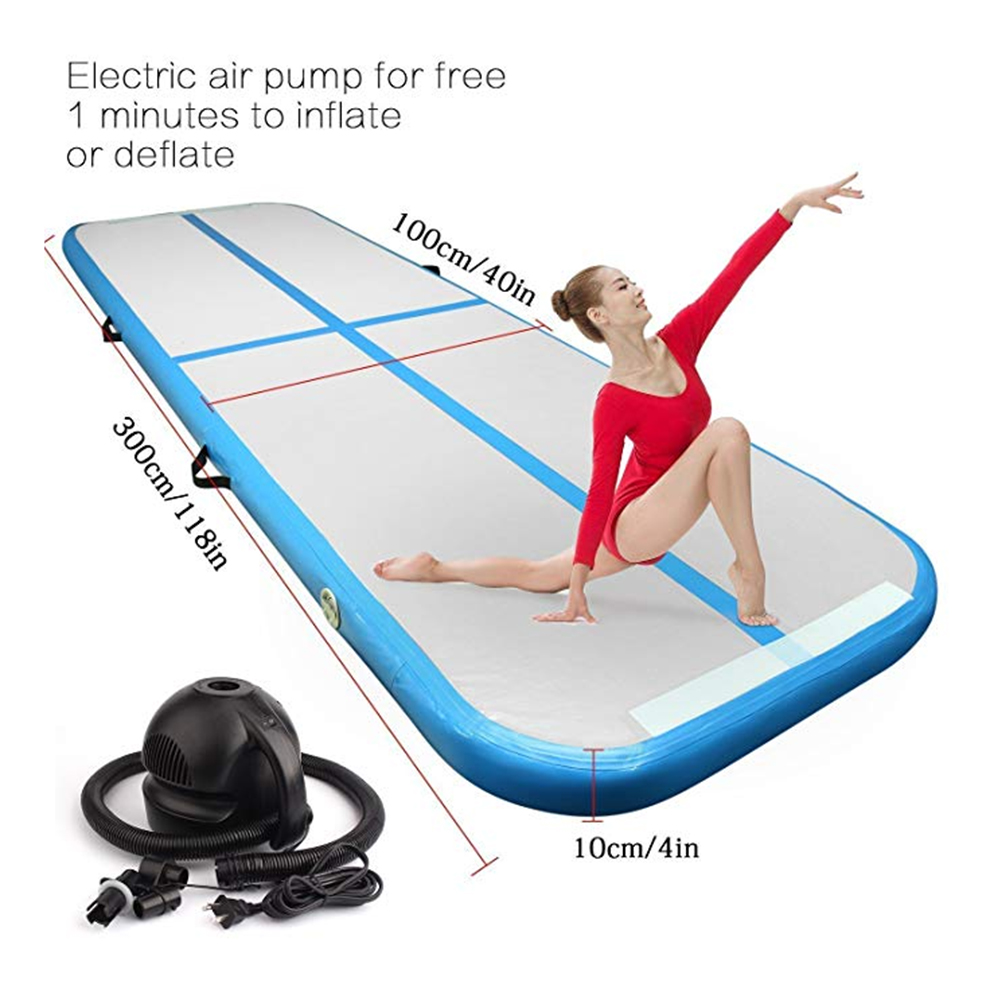 Inflatable Gymnastic Mattress Airtrack Tumbling Inflatable Floor Trampoline Bouncer Electric Air Pump for Home Taekwondo Yoga china factory price new style inflatable air bouncer inflatable water trampoline for sale