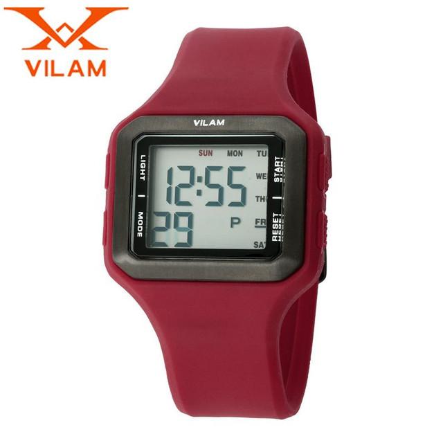 Vilam 2017 moda orologio uomo homens de borracha relógio de quartzo relógio de pulso do esporte relógios presentes navio livre