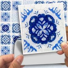Funlife 10*10 см синяя треснутая плитка водостойкая кожура и