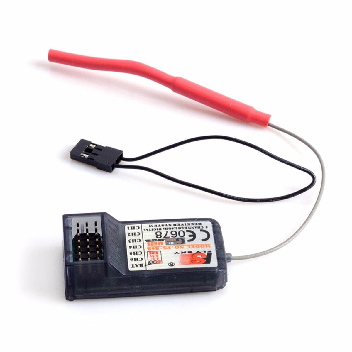 FlySky FS-R6B 2,4 Ghz 6CH RC AFHDS FS R6B Empfänger für i6 i10 T6 CT6B TH9x Transmitter Fernbedienung Teile