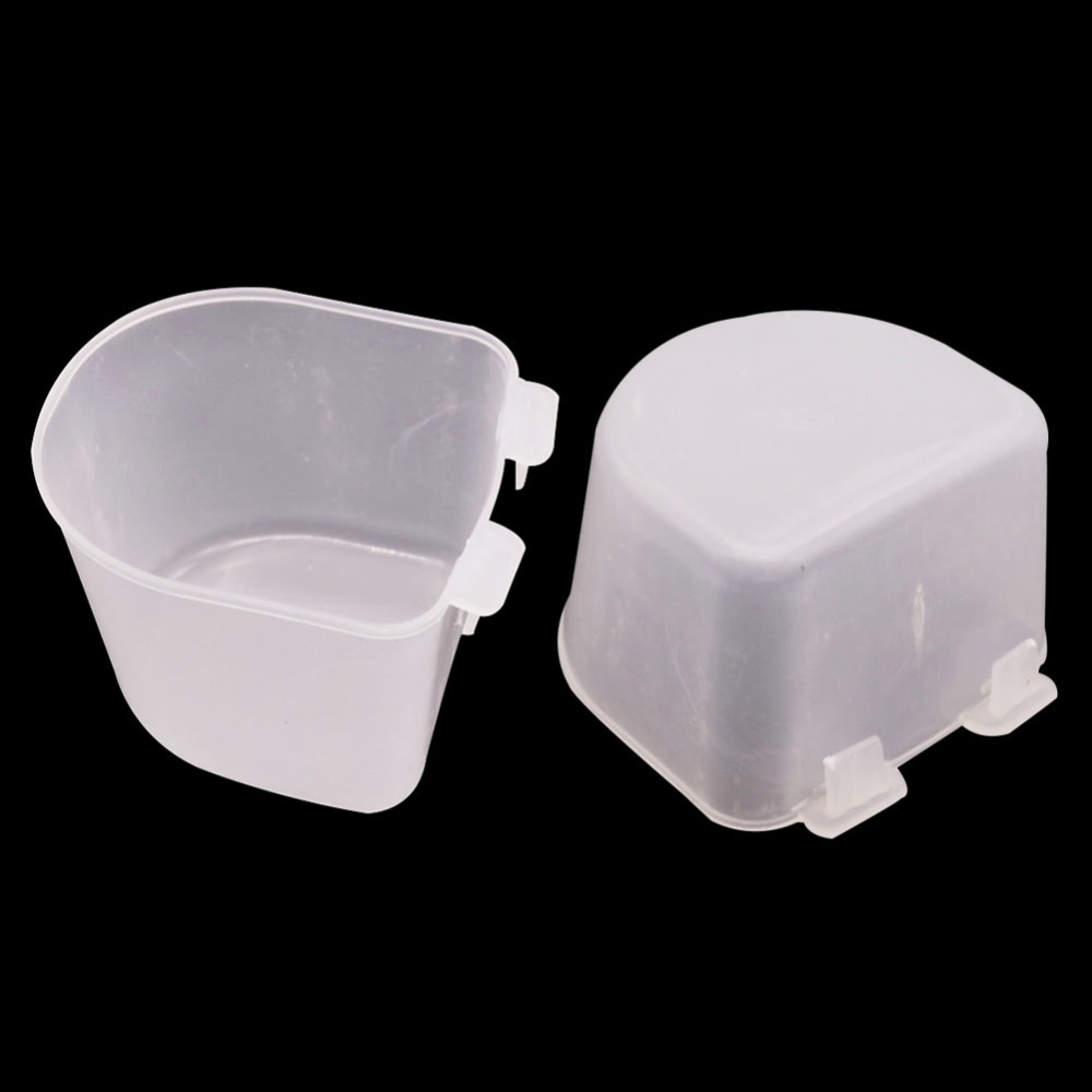 40 pcs Bird Cage Waterer Pigeon Drinking Cup 65 60 45mm Plastic Material font b Pet