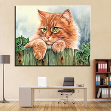 Oil Paint Painting By Numbers DIY Lovely Cat Pictures Drawing Coloring On Canvas Hand Framework Wall Modular Paints Artwork