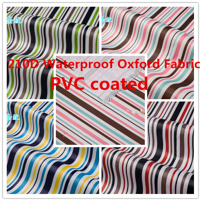 210D Stripe Waterproof Oxford Fabric Upholstery Furniture Durable Dust  Cover Cloth Canopy Tents Outdoor PVC Coated Part 66