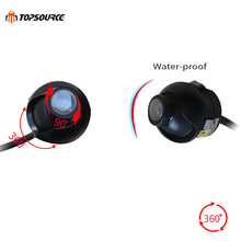 TOPSOURCE Waterproof Mini Wide Angle HD CCD Normal Image Car Rear View Camera With Mirror Image