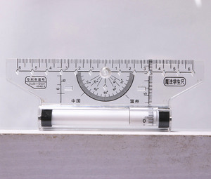 12/14cm Universal Parallel Rulers Angle Ruler Balancing Scale Drawing Multi-purpose Rolling Ruler