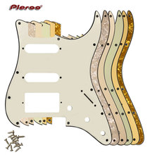 Pleroo Guitar Pickguard-For US 11 Screw Holes Stratocaster With Floyd Rose Tremolo Bridge PAF Humbucker Single HSS Scratch Plate купить дешево онлайн