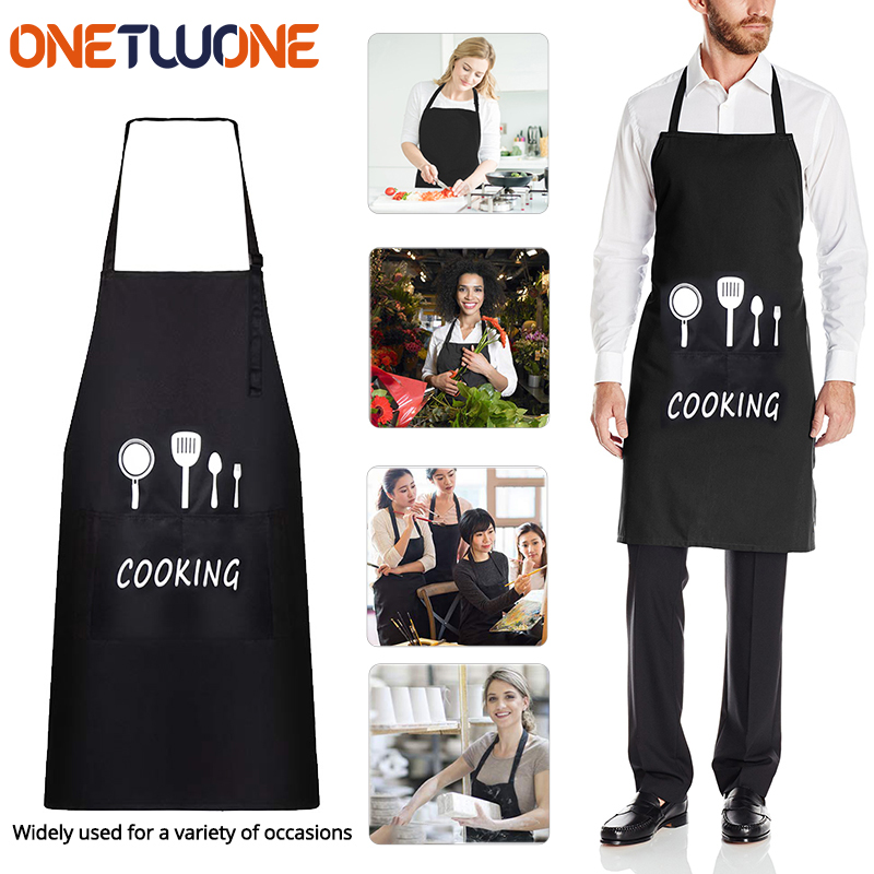 Waterproof Oil Cooking Apron, Chef Aprons For Women Men Kitchen Bib Apron Idea For Dishwashing Cleaning Painting
