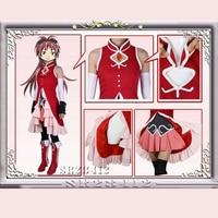 Puella Magi Madoka Magica Lolita Dress Kyoko Sakura Cosplay Makeovers Magical Girls Costume Full Suits Halloween
