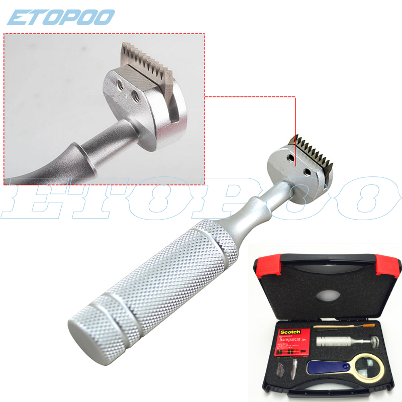 Cross Hatch Adhesion Tester Cross-Cut Kit 1mm//2mm 11 teeth blades free shipping