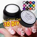 Saviland 1pcs Carved Patterns Gel Soak Off UV Gel Nail Art Modelling Manicure 3D Bright 12 Colors Glitter Sculpture