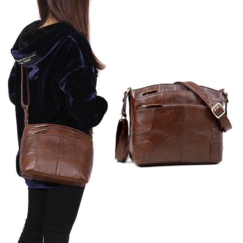 Cobbler Legend Bolsos de cuero genuino para las mujeres de gran capacidad de la bolsa de hombro de las señoras bolsos Crossbody 2018 nuevo bolso femenino