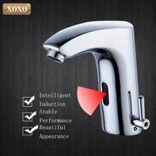 XOXO łazienka bezdotykowy kran z czujnikiem automatyczny dotykowy na podczerwień indukcyjny elektryczny pokład toaleta umywalka bateria z mieszaczem X8803B