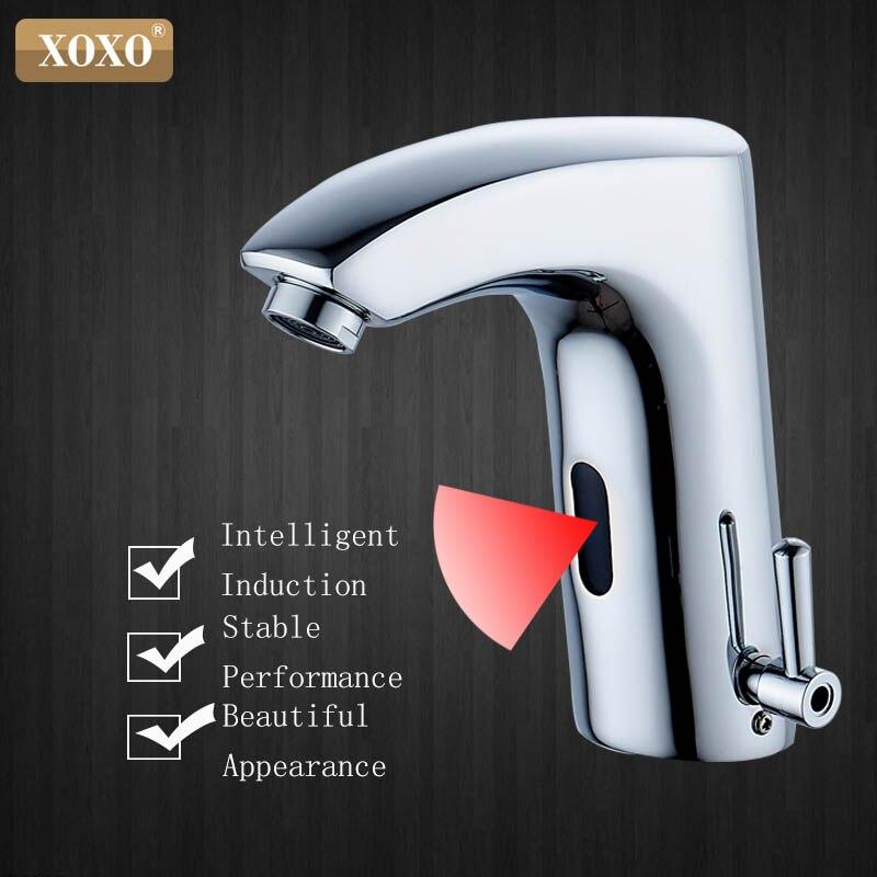 XOXO salle de bains sans contact capteur robinet automatique infrarouge tactile Inductive Électrique Pont Toilettes Lavage Mixer L'eau Du Robinet X8803B