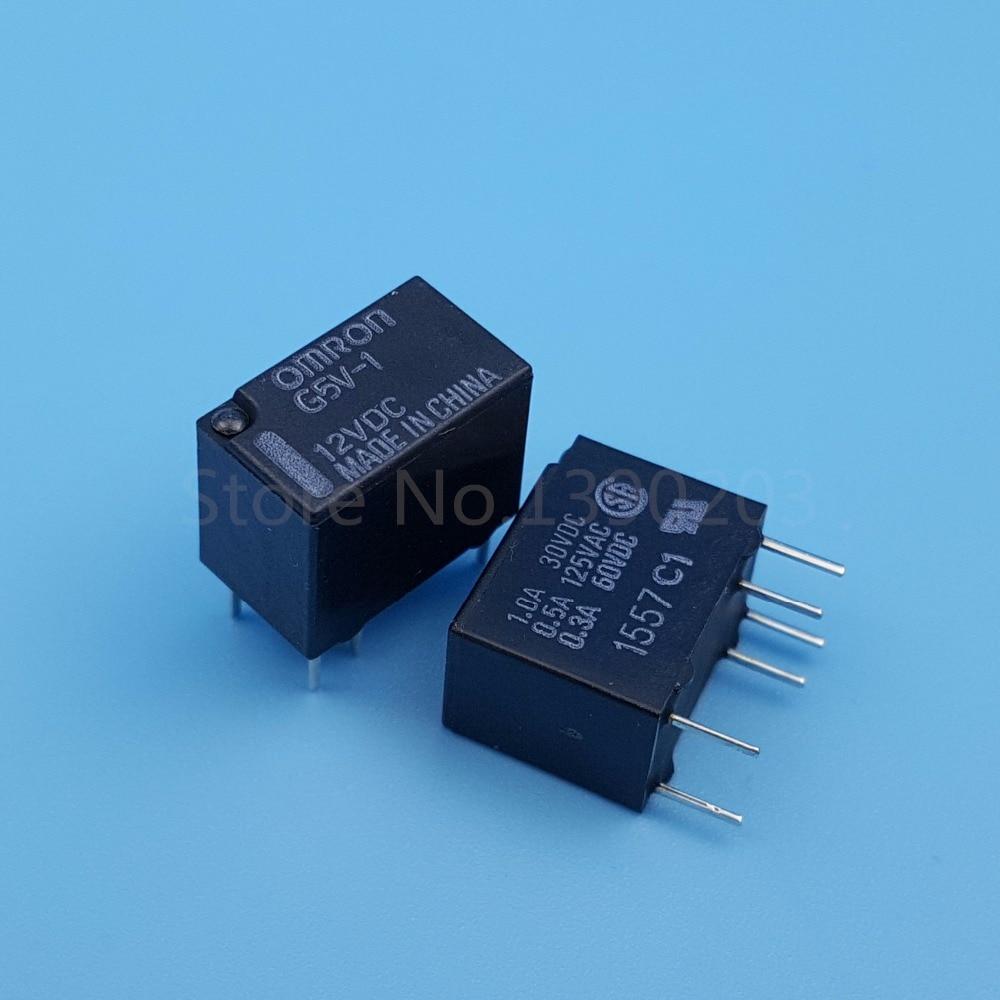 50pcs 6pins 12V G5V-1 12VDC G5V-1-DC12V Omron Relay