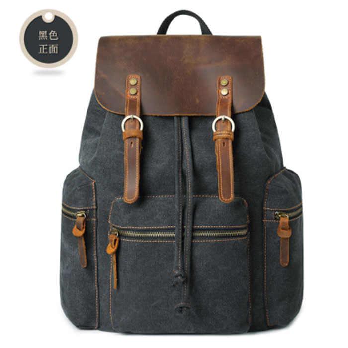 Для мужчин мужской черный холст/серый большой Ёмкость Колледж школьников хаки ArmyGreen рюкзак Повседневное рюкзаки дорожная сумка Серый унисекс
