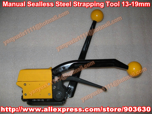 Wholesale !Similar FROMM A333 Manual Sealless Steel Strapping Bander Machine ,Tensioner+Sealer+cutter in one machine13-19MM  цены