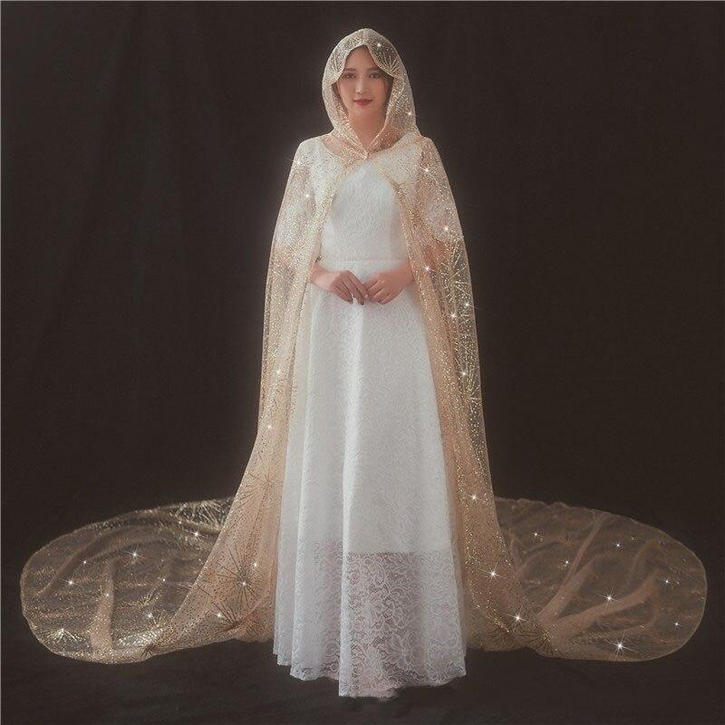 3.5 m Velo Da Sposa Da Sposa Lungo Spray Oro Veli da sposa per la Sposa con Pettine Accessori Da Sposa Cattedrale velos da sposa abiti da sposa 2018 - 2