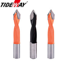 1pc Tungsten Carbide Alloy Drill Bit Woodworking Through Hole Drill CNC font b Router b font