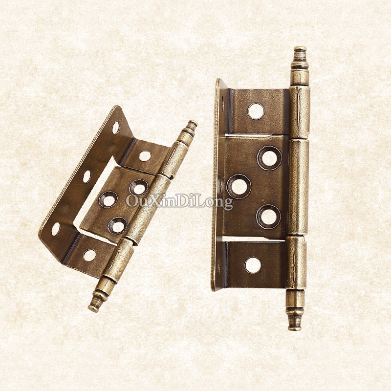 Hotsale 2PCS/lot Antique Hinges Metal Door Butt Hinges