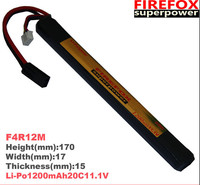 1pcs 100% Orginal FireFox 11.1V 1200mAh 20C Li Po AEG Airsoft Battery L F4R12M Drop shipping