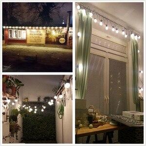 Image 5 - Vunji 42ft G50 Festoen Led Globe Lamp Led String Lights Outdoor Led Bal String Waterdichte Garland Wedding Party Patio Achtertuin