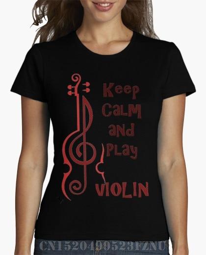 b6b16db02d Spring best sell girl t shirt Keepcalm violin Short sleeves Print Knitted  funny tees girl Clothing