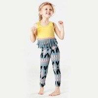 2017 Spring Girls Clothing Sets Tassel Shirt+Pants 2 pieces Suit Kids Fashion Cotton Clothes Suits Children Cute Clothing Set
